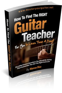 FREE Find a guitar teacher ebook